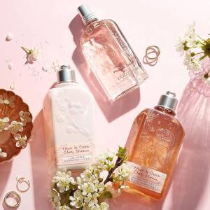 低至5折+低门槛免邮+换购礼包L'Occitane 精选香氛护理大促 收樱花身体乳、玫瑰香水