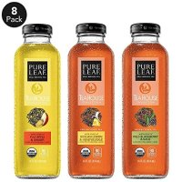 Pure Leaf 玻璃瓶装有机冰茶 三口味缤纷装 414ml 8瓶