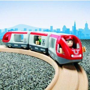 $16.51(原价$27.48)皇室玩具 BRIO 经典火车系列 33505 旅行火车套装