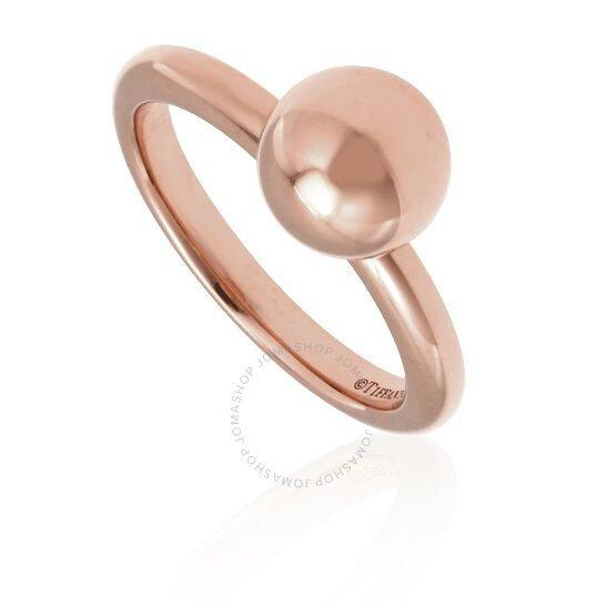 18kt玫瑰金球戒指