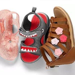 $13 不分尺码Carter's官网 春夏儿童鞋履3.6折起开门抢购