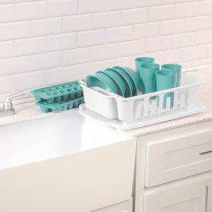 Sterilite, 12 Piece Kitchen Set, White, Set of 48