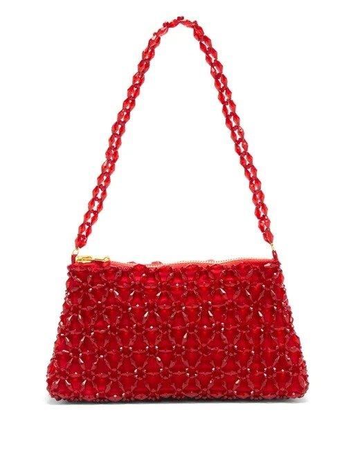 红色珍珠包