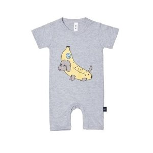 HUXBABY 香蕉小狗爬服