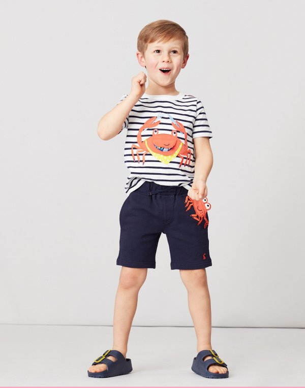 小童贴布绣童趣短裤