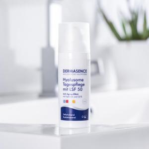 50ml折后€23.9 敏感肌可用DERMASENCE 玻尿酸防晒 清透质地 无需卸妆 护理防晒2合1