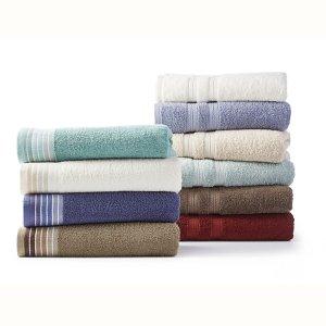 低至$3.99JCPenney 纯棉大浴巾特价 多款多色可选