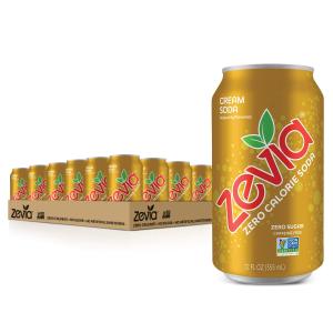 Zevia Zero Calorie Cream Soda, 12 Ounce Cans (Pack of 24)