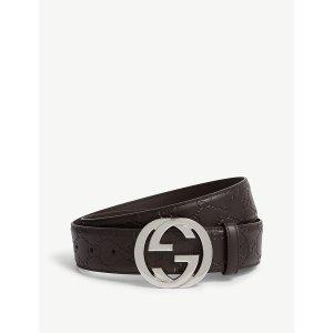 GucciGG logo 皮带