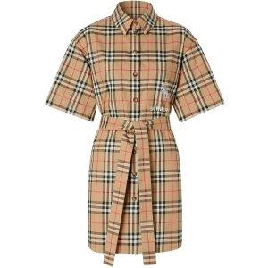Burberry热门款独角兽格纹连衣裙