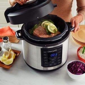 现价£59.99(原价£89.99)史低价:Crock-Pot 12合1 多功能不锈钢电高压锅