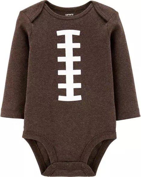 婴儿橄榄球包臀衫