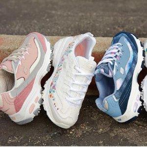 $24.72起 女款小白鞋$262021来啦:Skechers 休闲运动鞋 柔软记忆海绵 轻盈缓震新体验