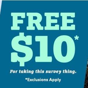 Free $10 CouponSurvey @ Moosejaw