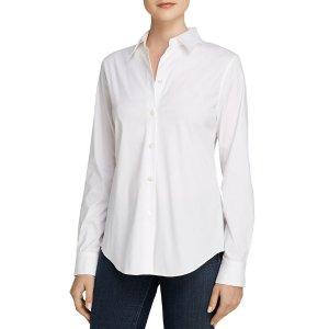 TheoryTenia Luxe Stretch Cotton Top