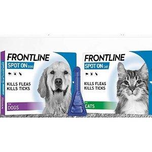 猫用低至£2.5/支,犬用低至£4.9/支FRONTLINE 福来恩 宠物体外驱虫药今日闪促