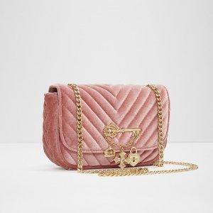 $22.5 (原价$45)补货:aldo 粉色丝绒链条包包热卖