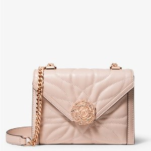 13efcec08a57 Michael KorsWhitney Small Petal Quilted Leather Convertible Shoulder Bag