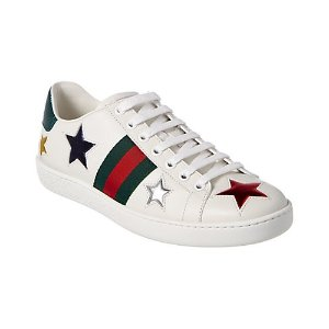 Gucci星星小白鞋
