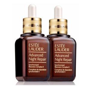 Estee Lauder价值 $196小棕瓶双瓶套装