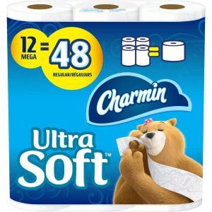 $14.23(原价$20.99)Charmin 超柔软卫生纸12卷 超大卷 相当于普通48卷