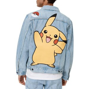 Levi's第2件5折® x Pokemon牛仔外套