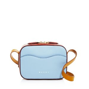 MarniSmall Color-Block Leather Shell Bag