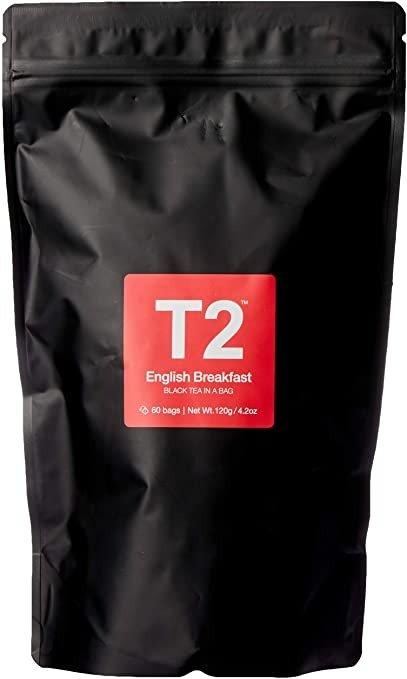 T2 Tea 英式早餐红茶, 60-Count