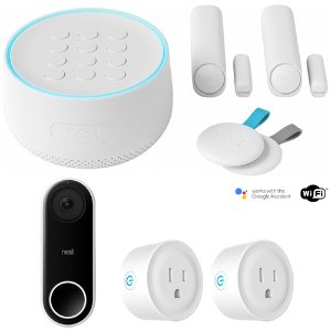 $359 居家安全好帮手Nest 智能安防系统入门大礼包,带智能门铃和智能插头