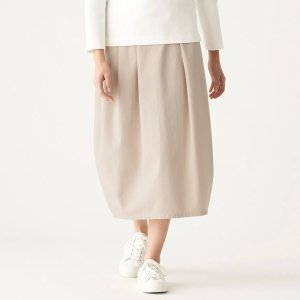 Muji4 Way Stretch Chino Balloon Skirt - Muji Online's natural and simple design complements today's lifestyles