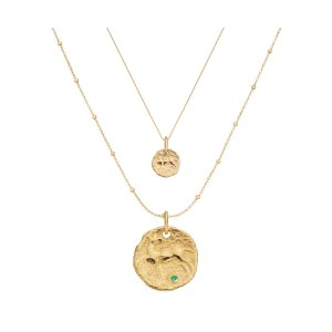 Monica VinaderGold Vermeil Siren Small and Large Coin Necklace Set | Jewellery Sets | Monica Vinader