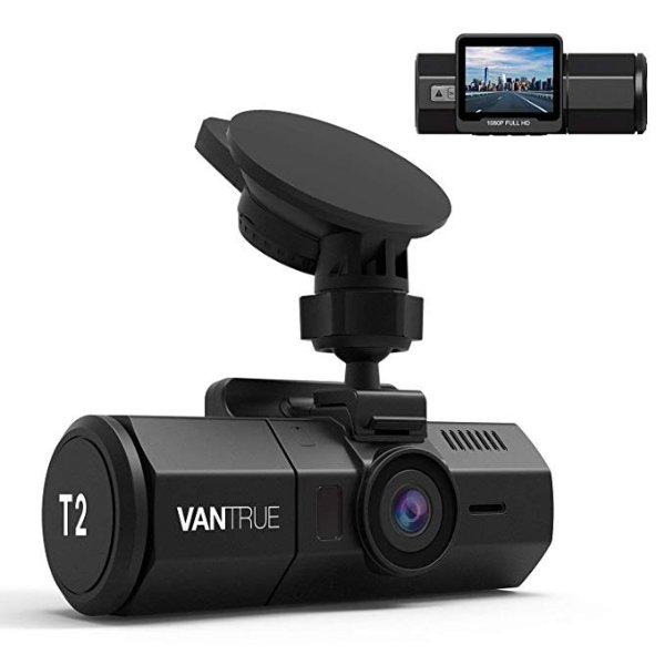 T2 1080p 行车记录仪 内置超级电容 24/7 录制