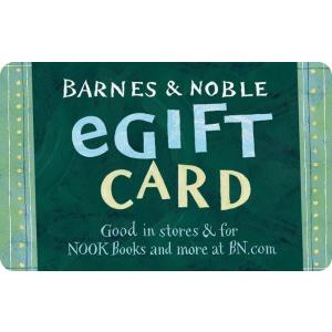 8.5折 $63收价值$75的礼卡限今天:Barnes & Noble 礼卡限时促销,节日送礼佳选