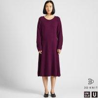 Uniqlo 羔羊毛针织长袖连衣裙
