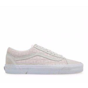 Vans Old Skool 白色绒面平底鞋