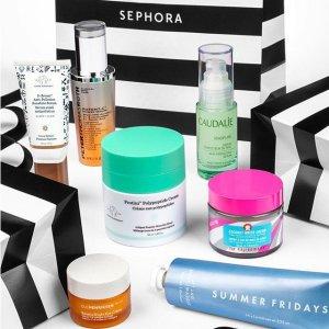 最高立减$20Sephora 超值护肤美妆套装热卖 收白胖子防晒、神仙水套装