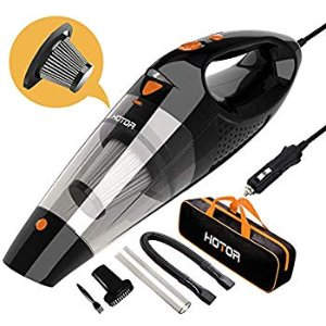 Amazon.com: HOTOR Car Vacuum, Corded Car Vacuum Cleaner High Power for Quick Car Cleaning, DC 12V Portable Auto Vacuum Cleaner for Car Use Only - Orange & Black: Automotive