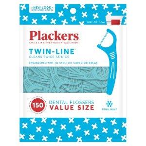 $1.88 白菜价Plackers 薄荷牙线棒 75支