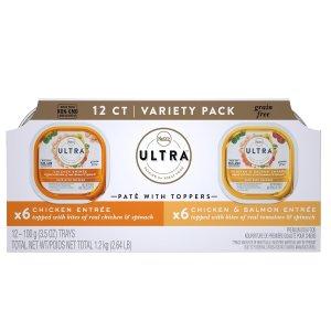 Nutro Ultra 混合口味无谷狗罐头 3.5oz 12罐