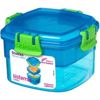 $3.30Sistema Lunch Collection Snack Container, 13.5 oz./0.4 L, Blue