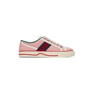 GucciTennis 1977 粉色休闲鞋
