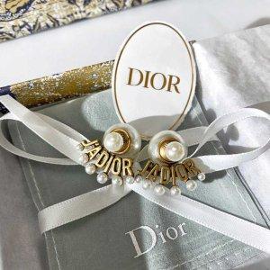 €350起 珍珠耳环€420上新:Dior 精美配饰 收秋冬新款LOGO手链、耳饰等大热款