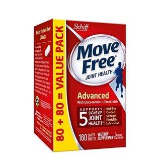 $13.42 (原价$26.34) 包邮再降:Move Free 红瓶维骨力160粒 保养骨骼健康