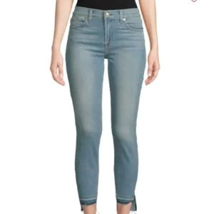 7 For All Mankind Gwenevere Cropped Step-Hem Jeans on Sale
