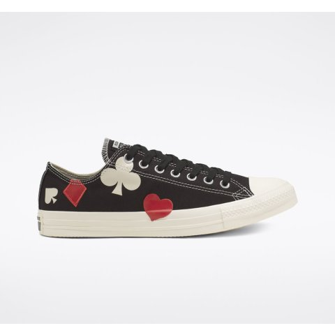 Chuck Taylor All Star Queen of Hearts Low Top Unisex Shoe. Converse