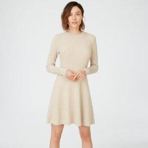 羊毛混纺连衣裙 三色可选