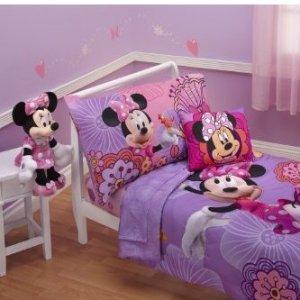 $29.99 (原价$56.25)Disney 儿童米妮床品四件套