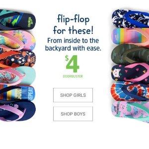 Only $4 was $8OshKosh BGosh Kids Flip-flops Sale