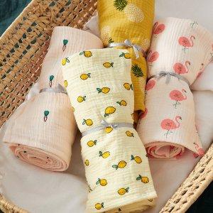仅$14上新:Simons 穆斯林棉 宝宝薄毯  给baby透气的温柔呵护