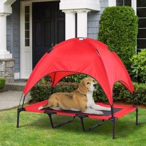 红色 适用于44磅可折叠宠物高架床